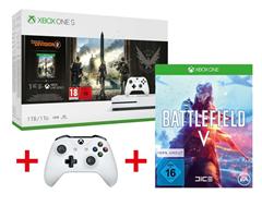 Bild zu Xbox One S 1TB Tom Clancy's: The Division 2 Bundle + 2. Controller + Battlefield V für 223,95€ (Vergleich: 291,88€)