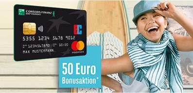 Bild zu [nur noch heute] beitragsfreie Kreditkarte der Consors Finanz mit 50€ Startguthaben