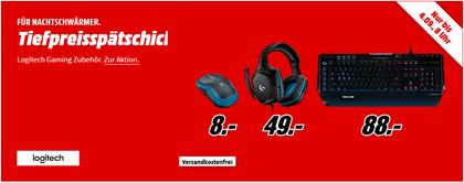 Bild zu MediaMarkt Tiefpreisspätschicht mit Logitech Gaming Zubehör