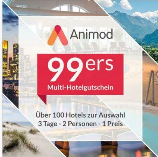 Bild zu Animod 99ers: Multi-Hotelgutschein für über 100 Hotels für 3 Tage (2 Übernachtungen) für 2 Personen für 89,98€