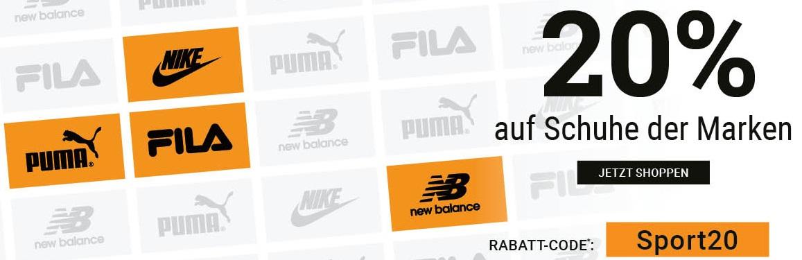 Bild zu Roland-Schuhe: 20% Rabatt auf Schuhe der Marken Nike, Fila, Puma und New Balance