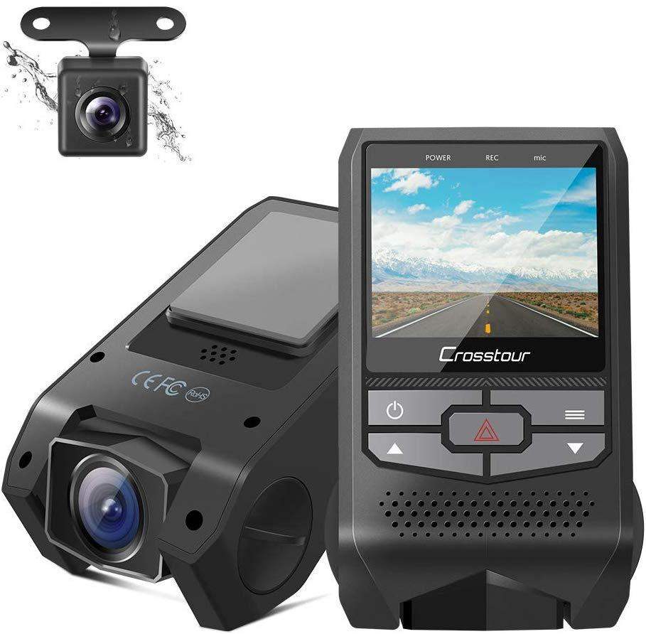 Bild zu Crosstour Dual Dashcam mit G-Sensor und Loop-Aufnahme für 34,99€