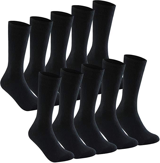 Bild zu 10er Pack schwarze YOUCHAN Baumwollsocken für 9€