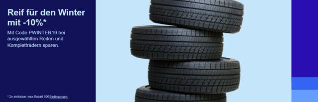 Bild zu [endet morgen] eBay: 10% Rabatt auf ausgewählte Reifen und Kompletträder