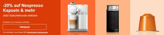 Bild zu eBay: 20% Rabatt auf Nespresso Kapseln & mehr