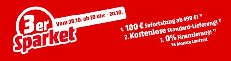Bild zu MediaMarkt: 3er Sparket – ausgewählte Haushaltsgroßgeräte mit 100€ Direktabzug, kostenloser Standard-Lieferung und 0% Finanzierung