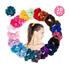 Bild zu LEBEXY elastische Samt Haargummis 20 Stück für 3,99€