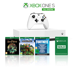 Bild zu Amazon.it: Xbox One S 1TB All Digital Edition Konsole inkl. 3 Digital Games (Sea of Thieves, Minecraft, Fortnite) für 152,79€ (Vergleich: 179,99€)