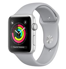 Bild zu [B-Ware] Apple Watch Series 3 GPS 42mm Sport Band silber für 188,99€ (Vergleich: 250,94€)