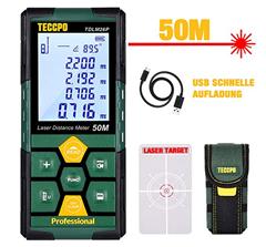 Bild zu TECCPO TDLM26P Laser Entfernungsmesser (50m, IP54, LCD Display) für 24,49€