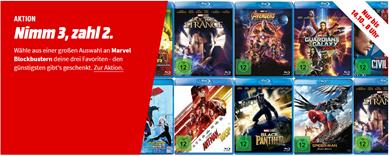 Bild zu MediaMarkt: 3 für 2 Aktion auf Marvel Filme & Serien
