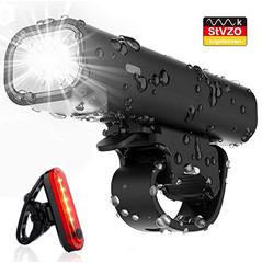Bild zu Pezimu LED Fahrradlicht Set (Frontlicht, Rücklicht, wiederaufladbar) ab 7,96€