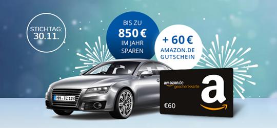 Bild zu [letzte Chance] KFZ-Versicherung: jetzt vergleichen, wechseln, sparen und zusätzlich 60,00€ Amazon-Gutschein erhalten
