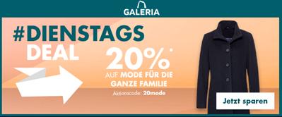 Bild zu Galeria.de: 20% Rabatt auf Mode für die ganze Familie