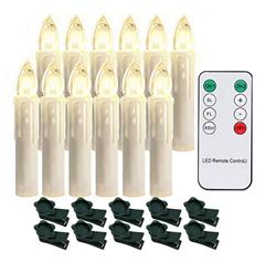 Bild zu 20er LED Weihnachtskerzen mit Fernbedienung (dimmbar, warmweiß, kabellos, batteriebetrieben) für 13,99€ (30 Stück = 20,29€ oder 40 Stück = 25,89€)