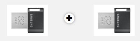 Bild zu Doppelpack SAMSUNG Flash Drive FIT Plus USB-Stick 32GB für 13€ (Vergleich: 25,76€)