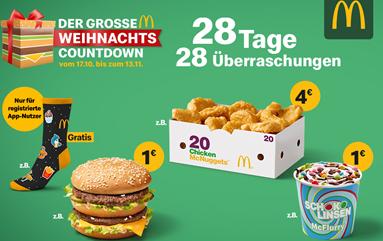 Bild zu Mc Donalds Weihnachtscountdown: heute 20 ChickenMcNuggets für 4€ (auch bei Burger King gibt es 20 Nuggets für 4€)