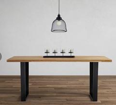 Bild zu Esstisch aus Eiche Echtholz ca. 180×90 cm 'Kayla' für 209,30€