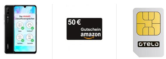 Bild zu Huawei P30 Lite für 4,99€ inkl. 50€ Amazon.de Gutschein mit Otelo Allnet Flat (7GB LTE Datenflat, SMS und Sprachflat) für 19,99€/Monat