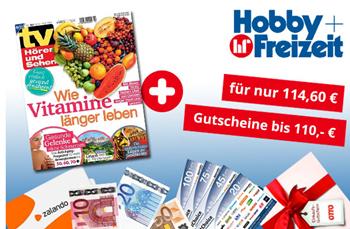 """Bild zu Jahresabo (52 Ausgaben) Zeitschrift """"TV Hören und Sehen"""" für 114,60€ + bis zu 110€ Prämie"""