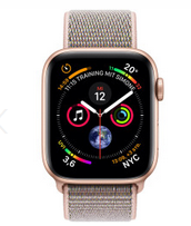 Bild zu Apple Watch Series 4 GPS + Cellular 44mm gold Aluminium Sport Loop sandrosa für 431,70€ (VG: 509,90€)