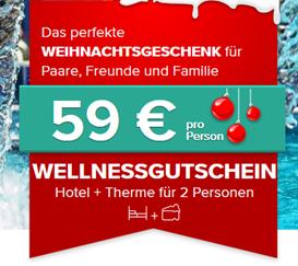 Bild zu Wellnessgutschein (Hotel + Therme) für 2 Personen zum Preis von 118€ (59€ pro Person)