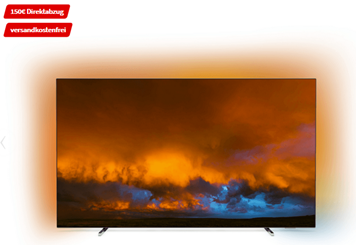 Bild zu PHILIPS 55OLED804/12 OLED Android TV (Flat, 55 Zoll/139 cm, OLED 4K, SMART TV, Ambilight, Android™ 9.0) für 1.499€ (VG: 1.889,89€)