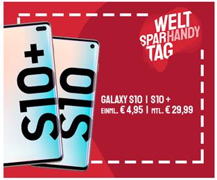 Bild zu [noch bis 23 Uhr] Samsung S10 inkl. 256GB Speicherkarte oder Samsung S10+ für je 4,95€ mit 10GB LTE Free Datenflat, SMS und Sprachflat im o2 Netz für 29,99€/Monat