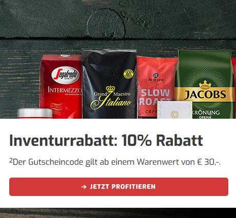 Bild zu Kaffeevorteil: 10% Extra-Rabatt auf das bereits reduzierte Kaffee-Sortiment (30€ MBW)