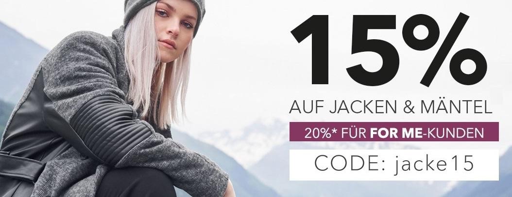 Bild zu Sheego: 15% Rabatt auf Jacken und Mäntel