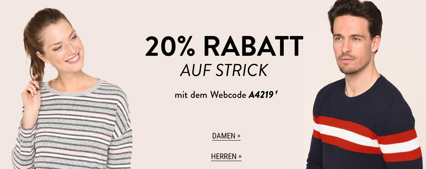 Bild zu Adler Mode: 20% Rabatt auf ausgewählte Strickartikel für Damen und Herren