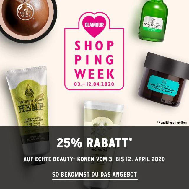 Bild zu The Body Shop: 25% Rabatt auf alles zur Glamour Shopping Week