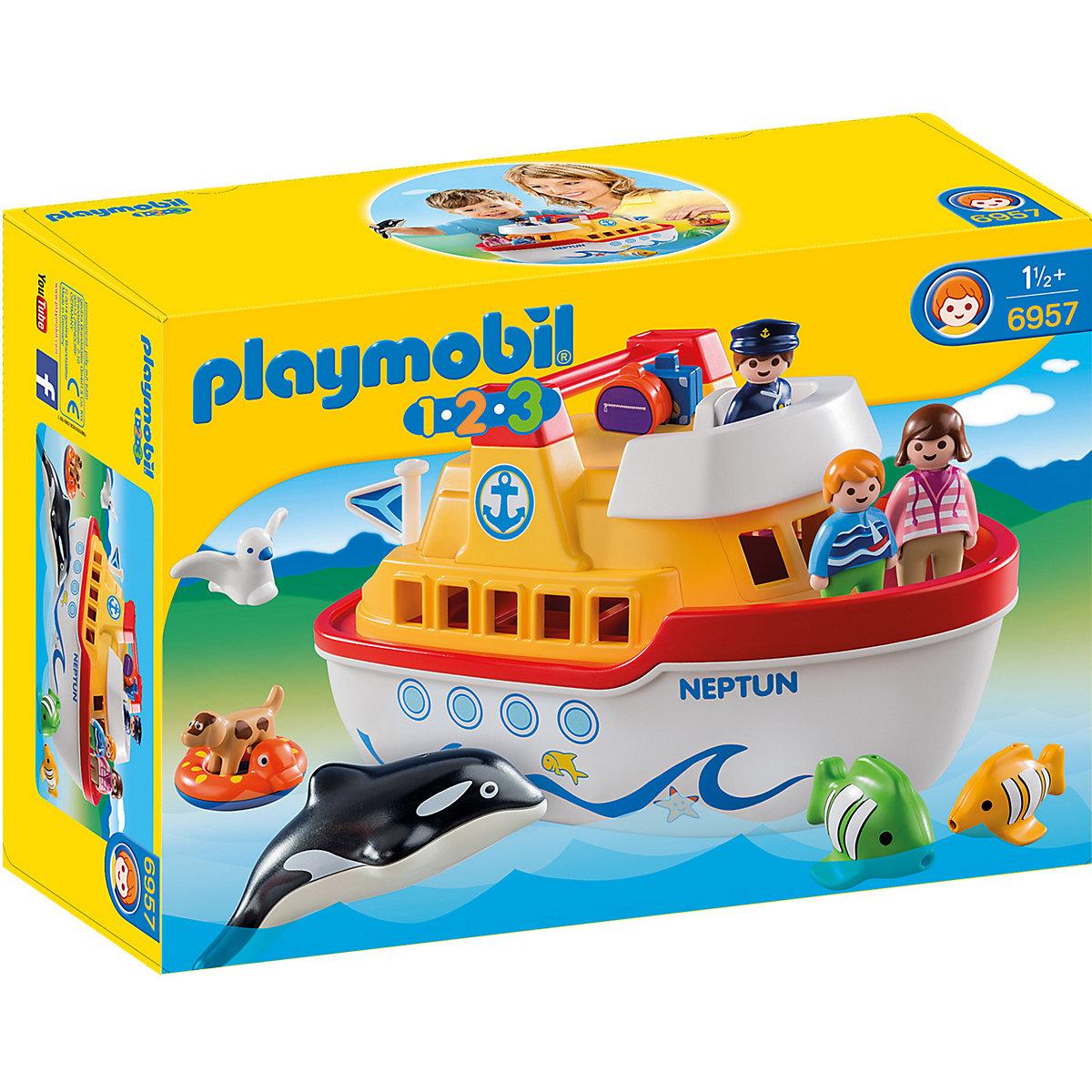 Bild zu Playmobil 1-2-3: Mein Schiff zum Mitnehmen (6957) für 20,94€ (Vergleich: 33,75€)