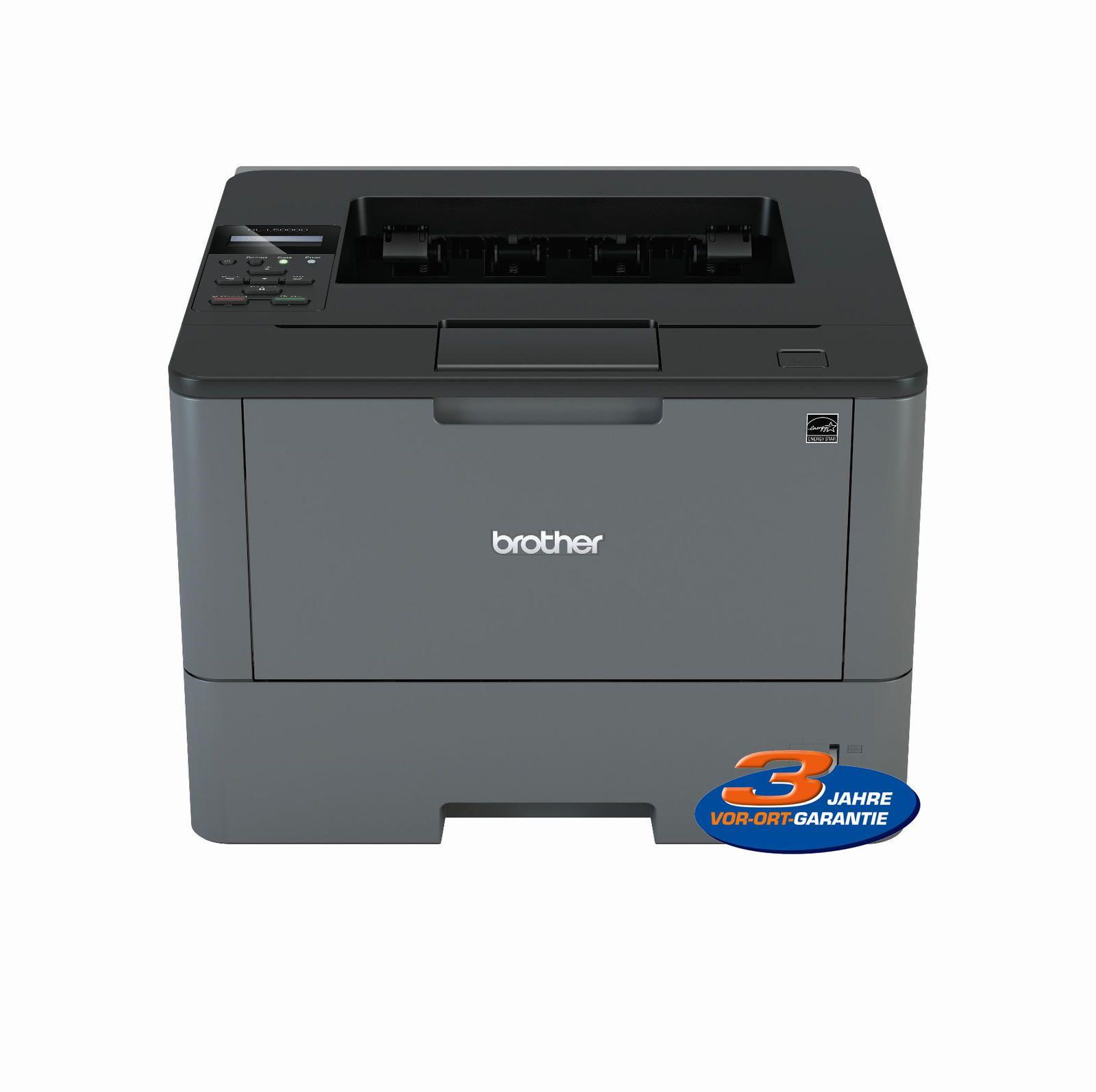 Bild zu Mono-Laserdrucker Brother HL-L5000D für 89,79€ (Vergleich: 109,78€)