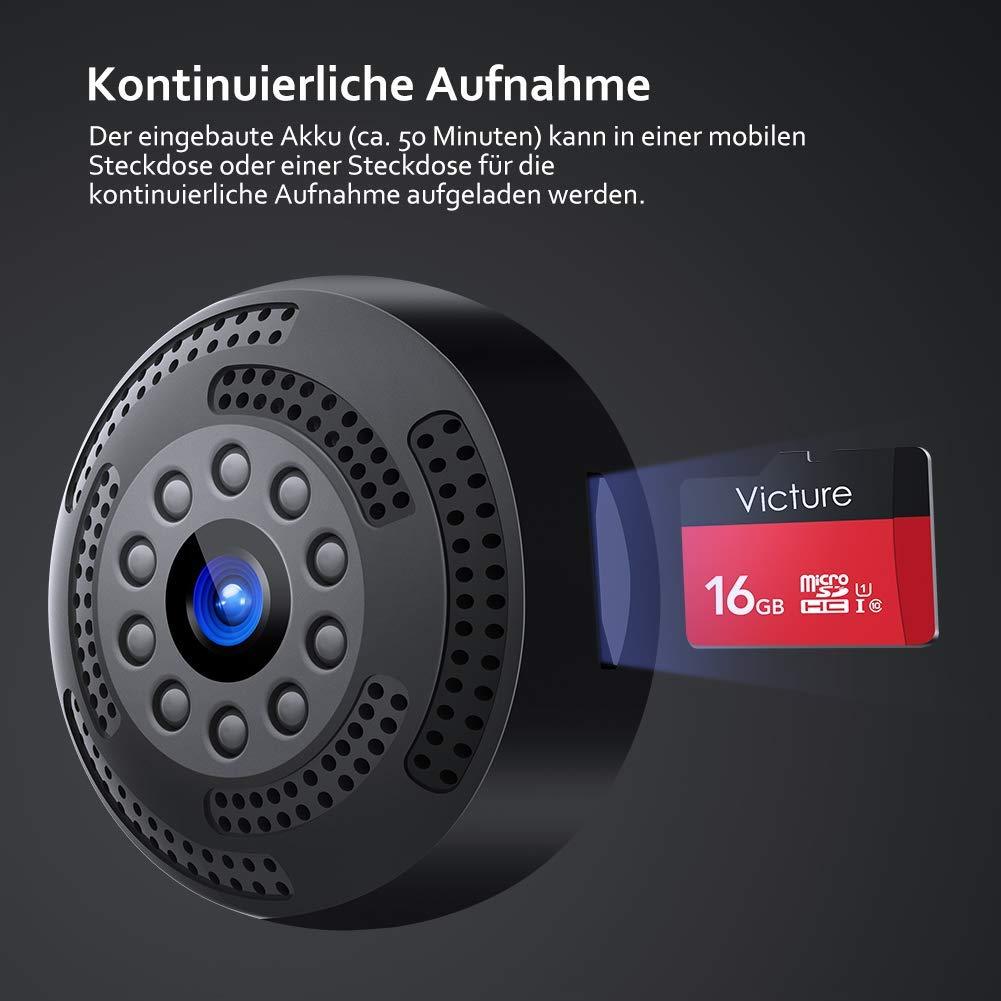 Bild zu Victure Mini WLAN Überwachungskamera mit Bewegungserkennung und Nachtsicht für 19,99€