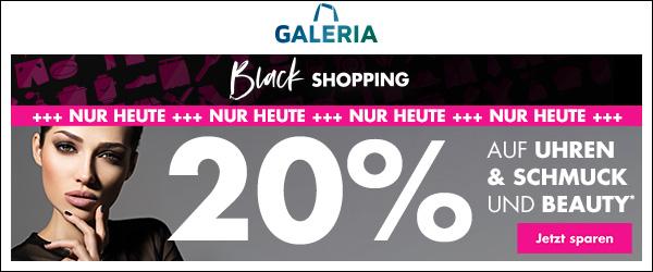 Bild zu Galeria Black Shopping: 20% Rabatt auf Uhren, Schmuck und Beauty