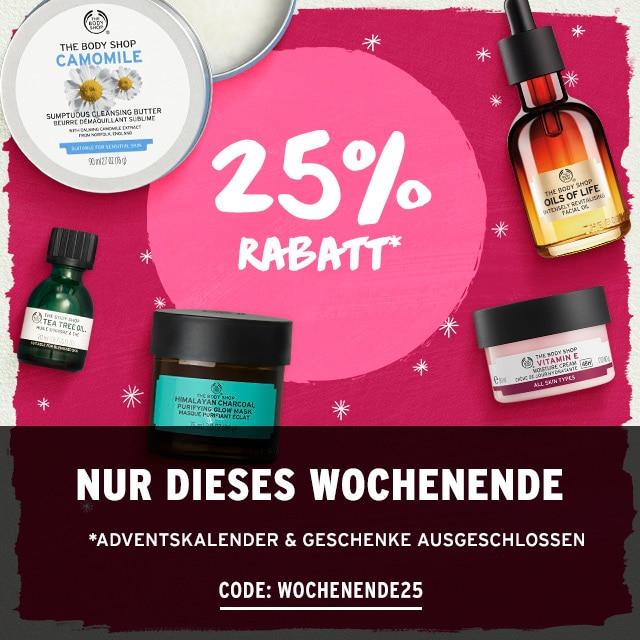Bild zu The Body Shop: 25% Rabatt auf alles