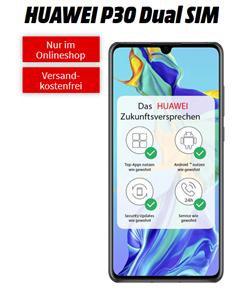 Bild zu HUAWEI P30 Dual SIM für 11€ mit 6GB LTE Datenflat und Sprachflat im Telekom Netz für im Schnitt 16,99€ im Monat