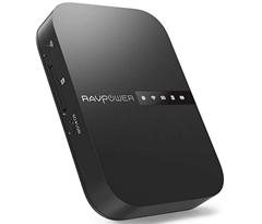 Bild zu RAVPower Filehub (Reise WiFi Router AC750, kabelloser SD-Kartenleser, 6700 mAh Akku usw.) für 39,99€