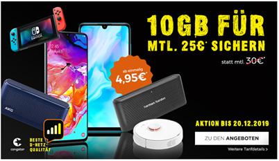 Bild zu Congstar Allnetflat im Telekom Netz mit 10GB LTE Datenflat, SMS und Sprachflat inkl. Zugabe ab 4,95€ für 25€ im Monat