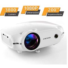 """Bild zu Crenova Mini Projektor (1080P, 3800 Lumen, bis zu 200"""") für 89,99€"""