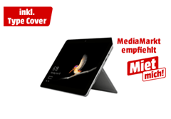 Bild zu [Top] Microsoft Surface Go 8GB/128GB WiFi inkl. Typecover + Microsoft Office Home and Student 2019 für 549€ (VG: 721,02€)