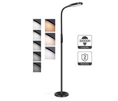 Bild zu Miroco LED Stehlampe mit 5 Helligkeitsstufen und 3 Farbmodi für 32,99€