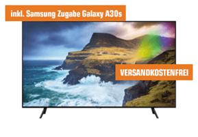 Bild zu [Top – geht noch] SAMSUNG GQ55Q70R 138 cm (55 Zoll) UHD 4K QLED TV + gratis Galaxy A30s für 899€ (VG: 1.255,99€)