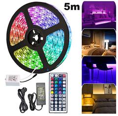 Bild zu Hengda 5m LED Streifen Set (IP65) mit 44 Tasten Fernbedienung für 11,61€ oder 10m für 17,21€