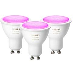 """Bild zu 3er Pack Philips Hue White and Color Ambiance GU10 5,7W(40W) Bluetooth (neue Version """"Richer Colors"""") für 96,99€ (VG: 135,74€)"""