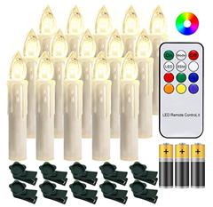 Bild zu 30 Stück LED Weihnachtskerzen mit Fernbedienung (farbig, inkl. Batterien) für 20,29€