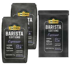 Bild zu 2kg JACOBS Kaffeebohnen Barista Editions Espresso + Metalldose für 17,95€