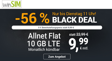 Bild zu [letzte Chance] winSIM: 10GB LTE Datenflat, SMS und Sprachflat im o2 Netz für 9,99€ im Monat – monatlich kündbar