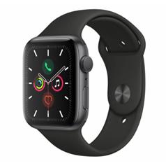 Bild zu Apple Watch Series 5, 44 mm, Aluminiumgehäuse spacegrau, Sportarmband schwarz für 399€ (VG: 441,57€)